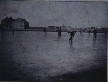 Ice pond in Coal City about 1905