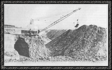 Marion dragline with 35 cubic yard bucket